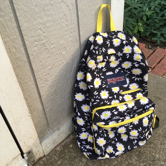 f56563eba Jansport Handbags - Jansport Daisy Print Digibreak Backpack